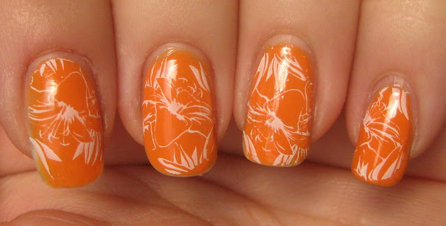 "Orange Lillies manicure"" title="