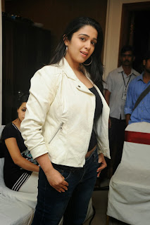 Actress Charmi Kaur Pictures in Jeans at One by Two Movie Celetes 20 Years Event 0066