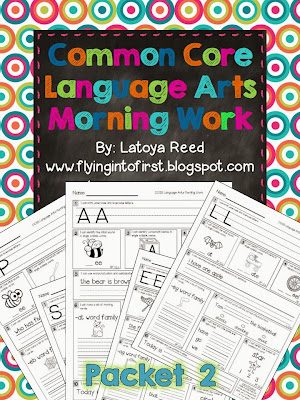 http://www.teacherspayteachers.com/Product/Morning-Work-for-ELA-Aligned-to-Common-Core-Packet-2-903996