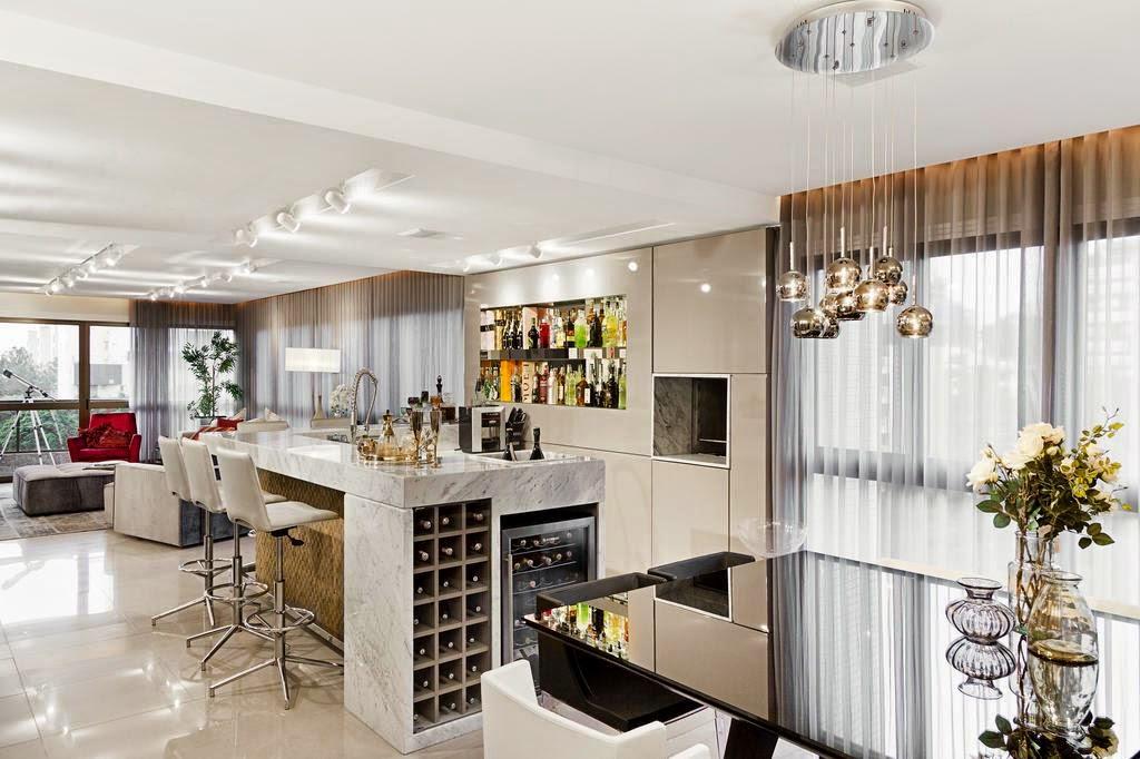 Cozinhas com adega e bar integrados veja modelos lindos for Modelos de barras para bar