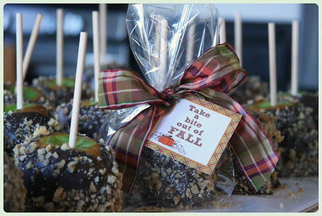Caramel Apples Fall Tag