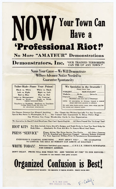 ProRiot DEMONSTRATORS, INC GUARANTEES PROFESSIONAL RIOTS