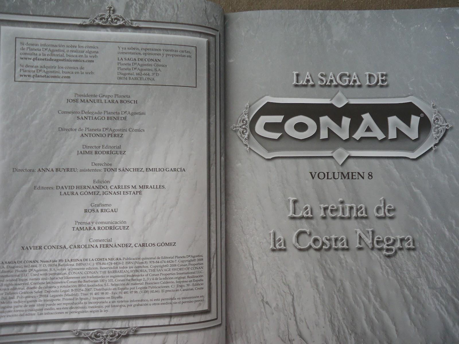 COMIC LA SAGA DE CONAN TOMO 1 LA LLEGADA DE CONAN PLANETA AGOSTINI USADO