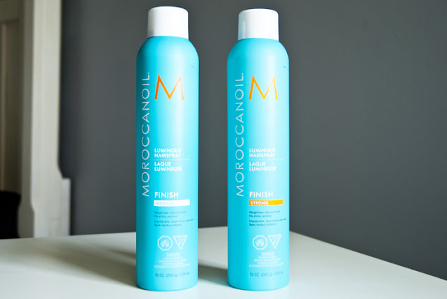 Moroccan Oil Luminous Hair Spray argan oil product review beauty review