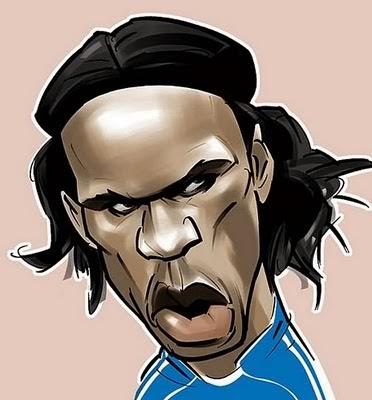 Gambar Karikatur Piala Dunia 2014 Didier Drogba Pemain Bola Dunia