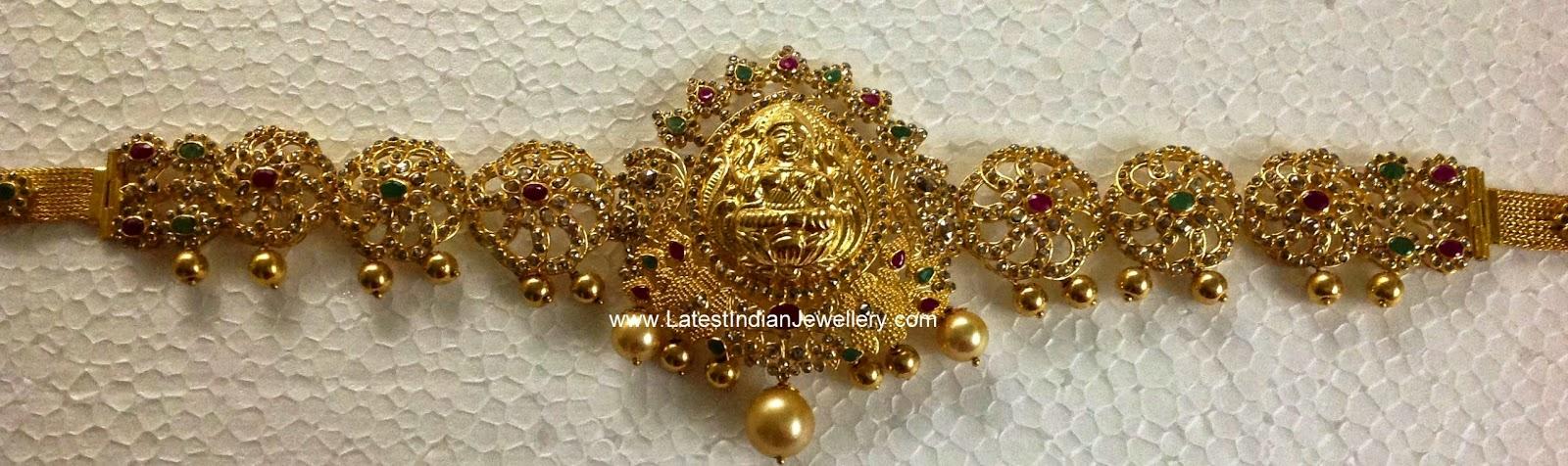 uncut diamond lakshmi design vaddanam