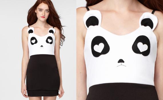 Платье панды