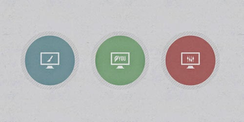 Iconic Buttons – Hover Effect