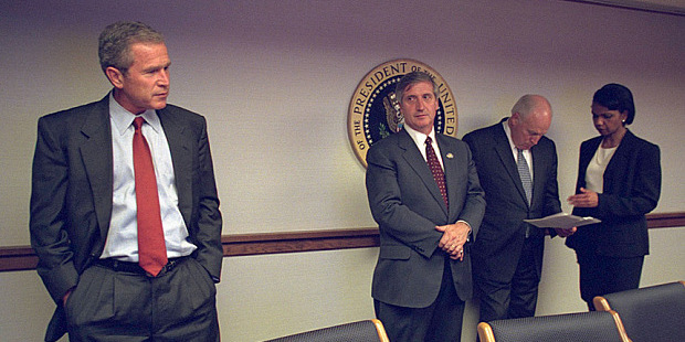 7 Newly-released photographs of Bush and Cheney after 9/11 attacks