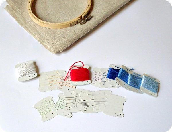 Le idee della vale le basi del ricamo 01 materiale - Scatola porta rocchetti ...
