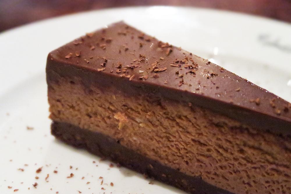 Valrhona Chocolate Cheesecake at the Malmaison Leeds Brasserie