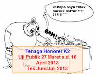 Uji Publi dan Test Tenaga Honorer K2
