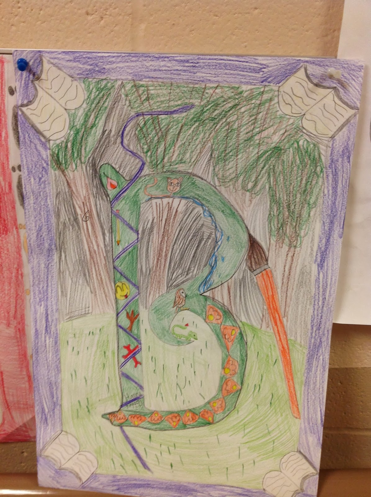 5th Grade Illuminated Letter Drawing