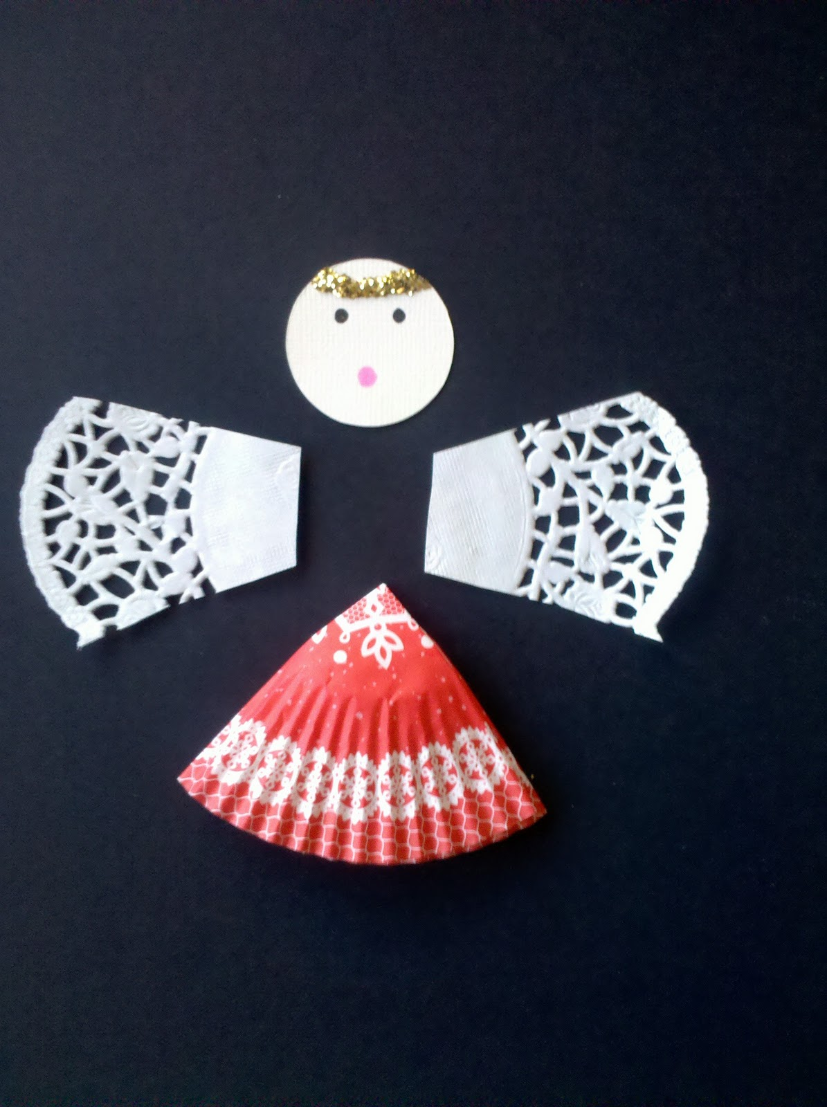 Uncategorized Paper Angel Crafts be brave keep going paper muffin liner angel craft craft