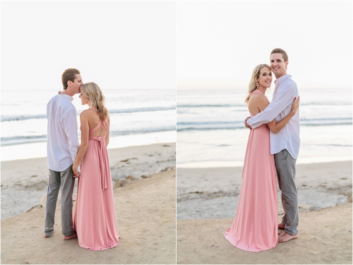 Sunset Beach engagement session at Torrey Pines | San Diego Beach Engagement Session by Leslie Anne Photofinish