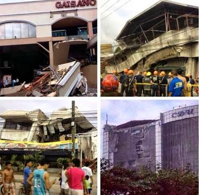 Daños tras terremoto en Filipinas, 15 de Octubre 2013