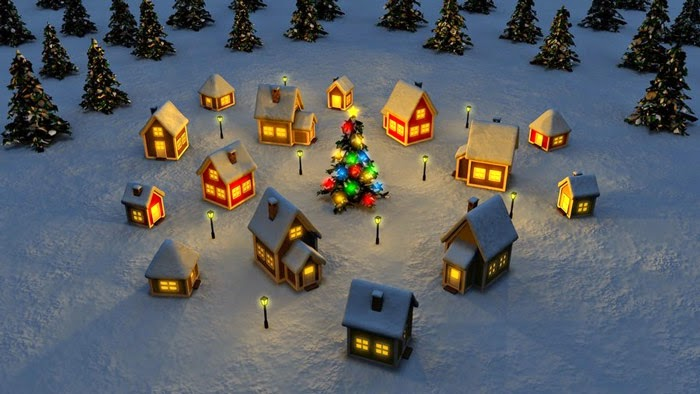 Christmas Town HD - Free Christmas Wallpaper