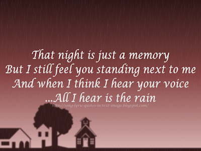 Rain - Alanis Morissette Song Lyric Quote in Text Image
