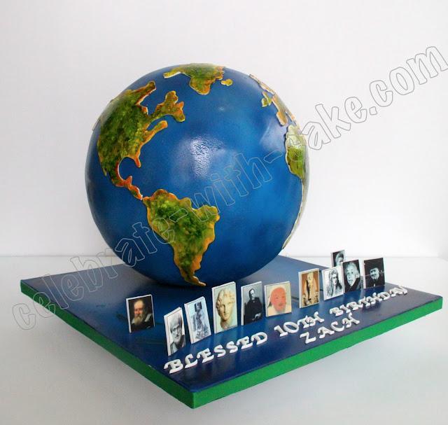 World Globe Cake Topper