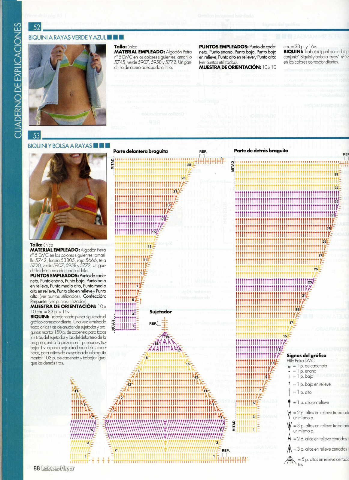 TRICO y CROCHET-madona-mía: Bikinis y bañadores (triquinis) a ...