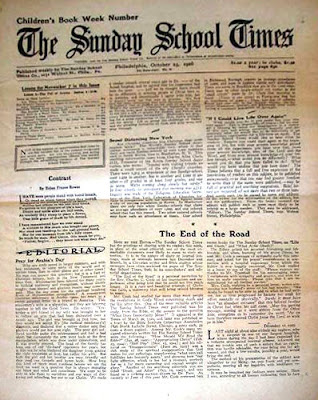 1926 Sunday School Paper