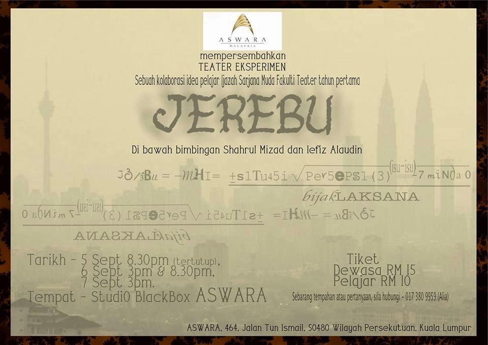 Poster Teater Eksperimen Jerebu