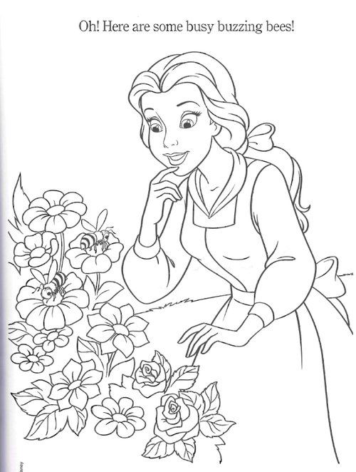 disney princesses belle coloring pages - Belle Coloring Pages 2
