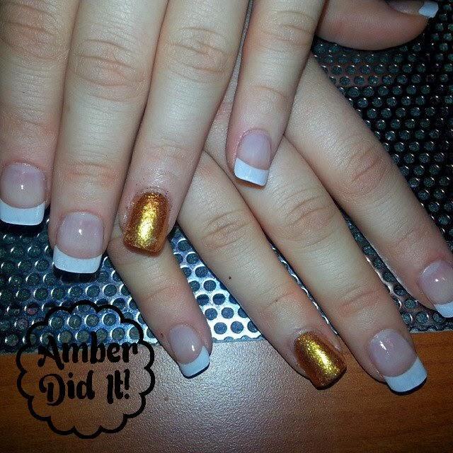 Long Square White Tip Nails | Splendid Wedding Company