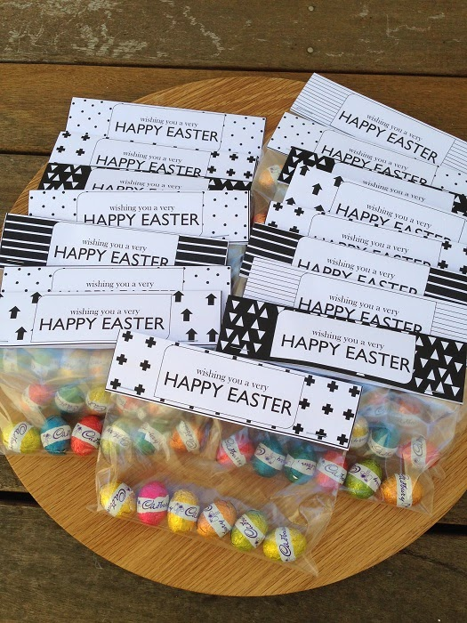 The little design corner homemade easter gifts diy bag toppers negle
