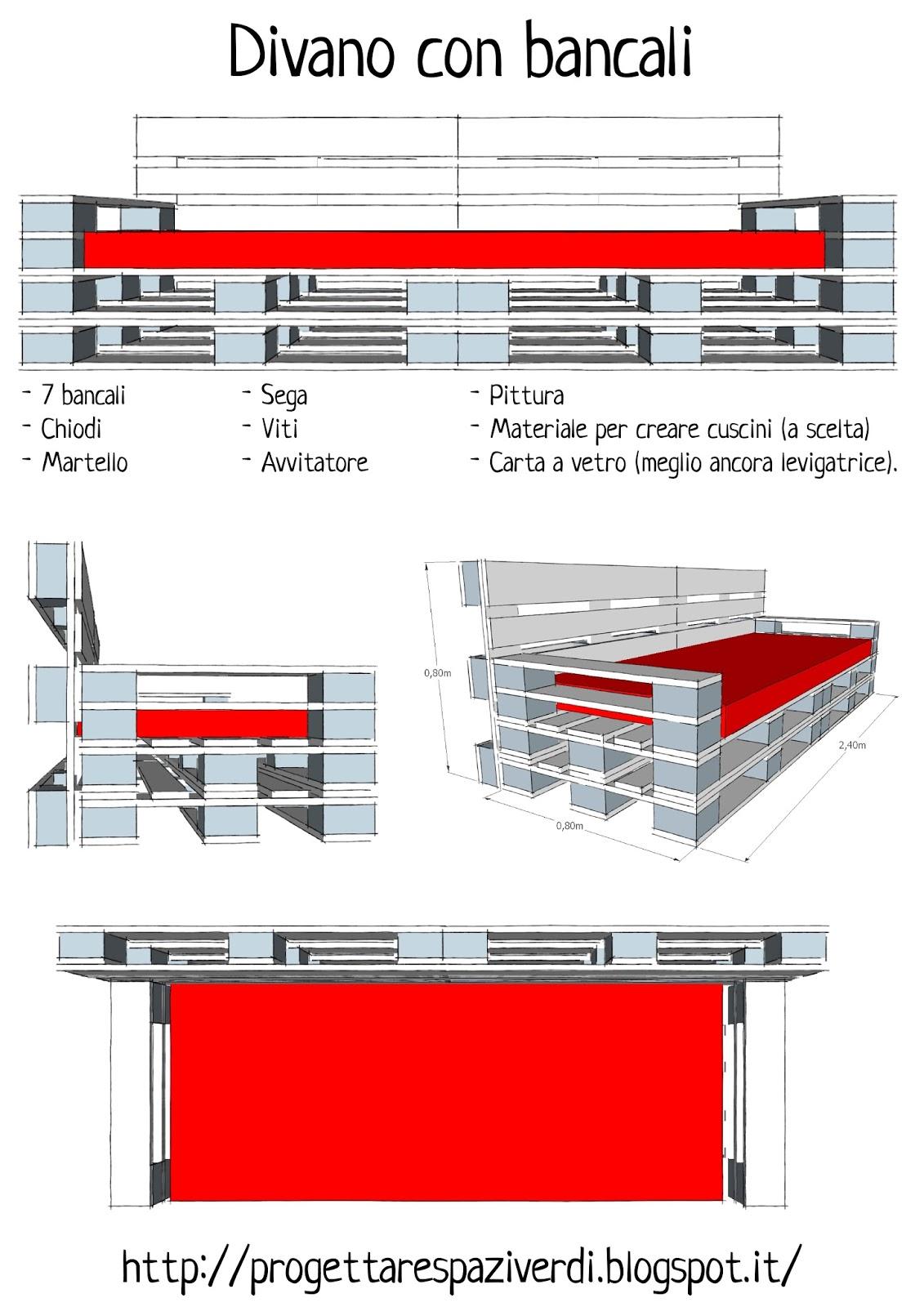 Assez Progettare spazi verdi: Come costruire un divano con i pallet  CW96