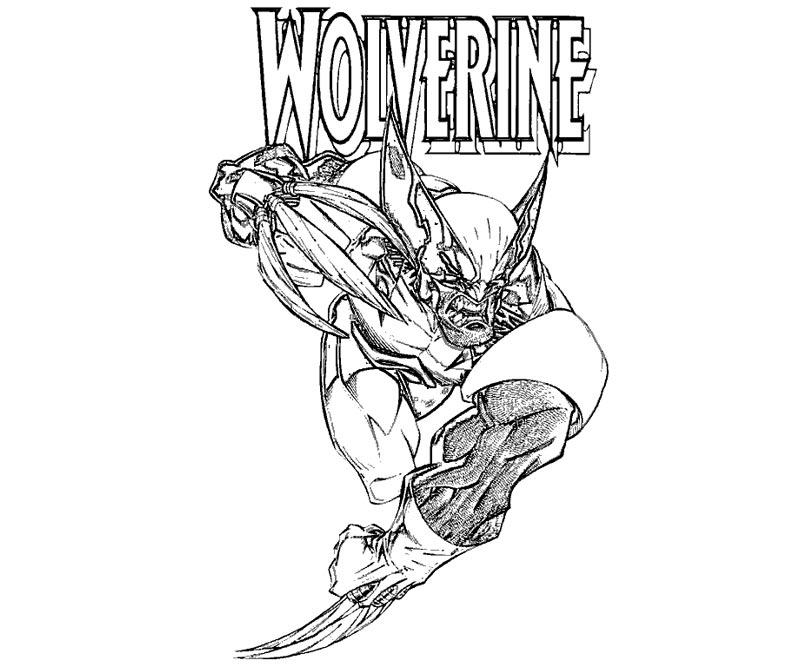 #10 Wolverine Coloring Page