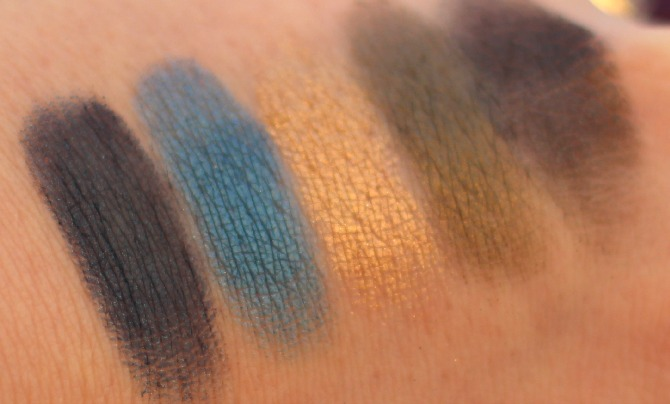 The 2nd row of the UD Vice 2 palette swatched