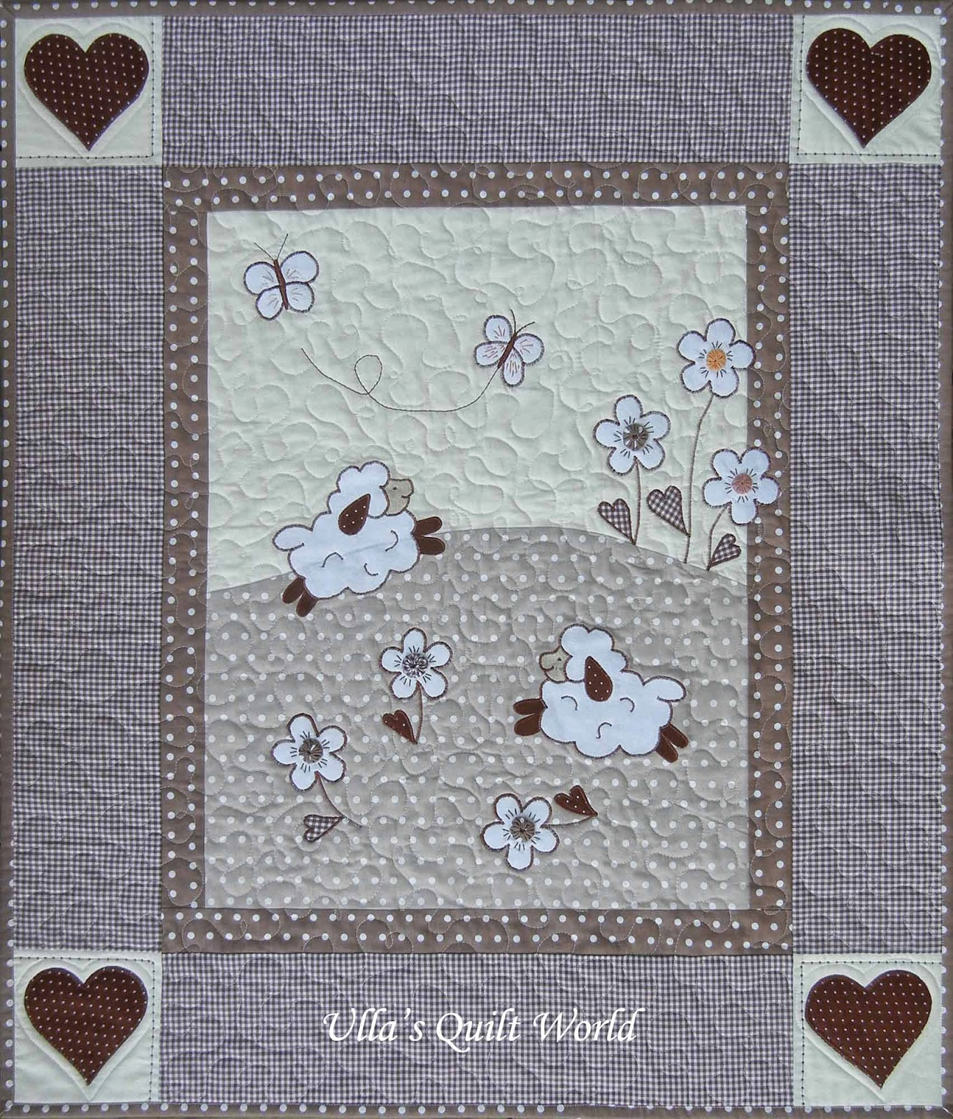 Ulla's Quilt World: Sheep quilts - baby blanket and pillowcase : sheep quilt pattern - Adamdwight.com