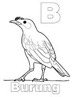 Belajar Mewarnai Huruf B - Burung