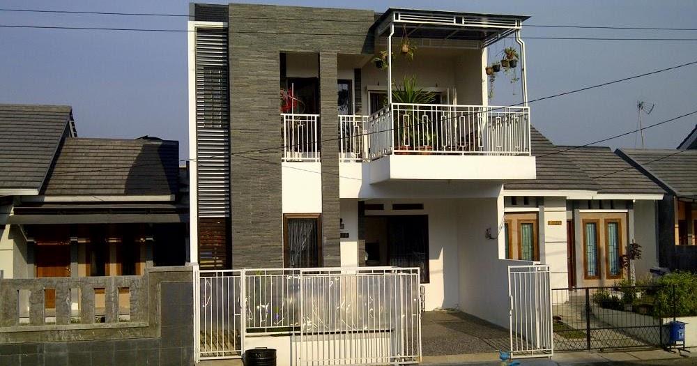 contoh desain rumah mewah 2 dan 1 lantai model rumah