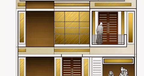 contoh gambar rumah type 80 2 lantai desain rumah