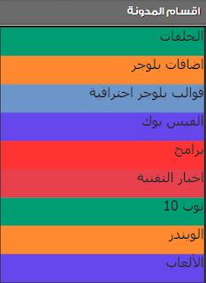 عمل قائمة جانبية لاقسام المدونة