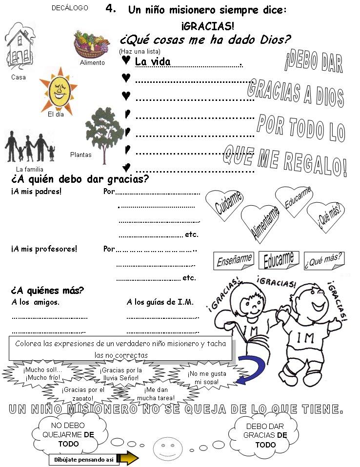 INFANCIA MISIONERA - Decálogo: 2011