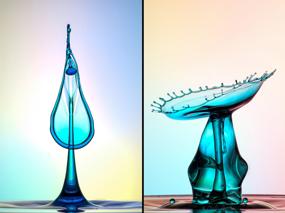 photographing water droplets