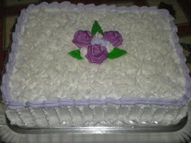 bolo com flores de açucar