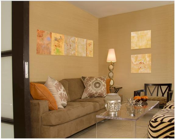 Salas color tierra cocinas modernas - Paredes decoradas modernas ...