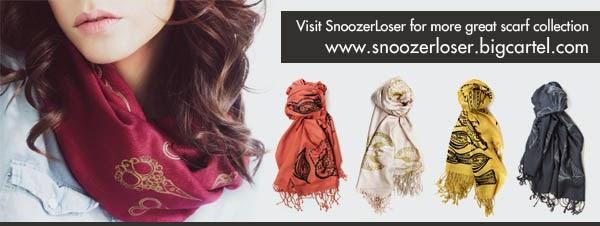 Trendy Winter Silk Scarf - Snoozer Loser NY