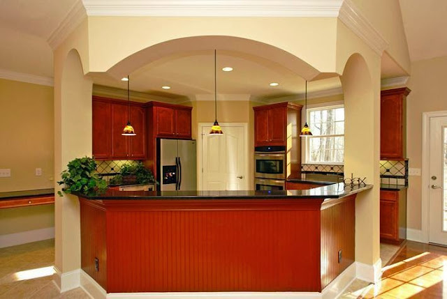 How to choose the right kitchen wall painting color for Beige kitchen cabinets wall color