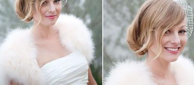 novias de invierno estolas de pelo