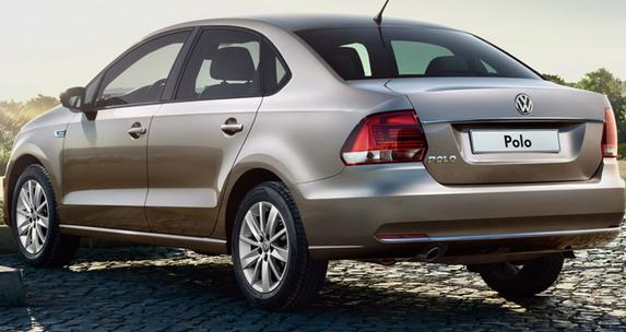 新型「Polo Sedan」のリア画像