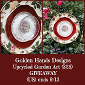 GOLDEN HANDS DESIGNS Repurposed Garden Art