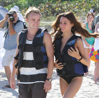 Tom Felton Girlfriend Jade Olivia 2012