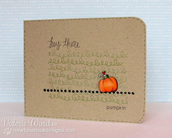 Pumpkin card by Valerie Ward for Newton's Nook Designs