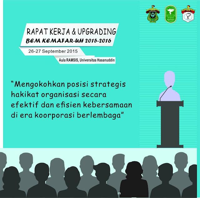 [Agenda] Rapat kerja dan upgrading BEM KEMAFAR-UH