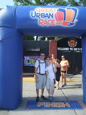 the great urban race finish line, picture, chicago, tired